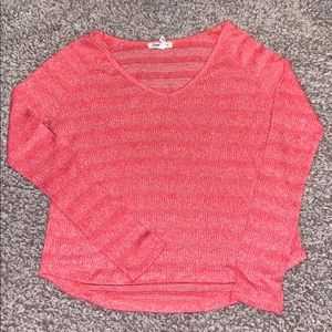Aeropostale pink striped sweater